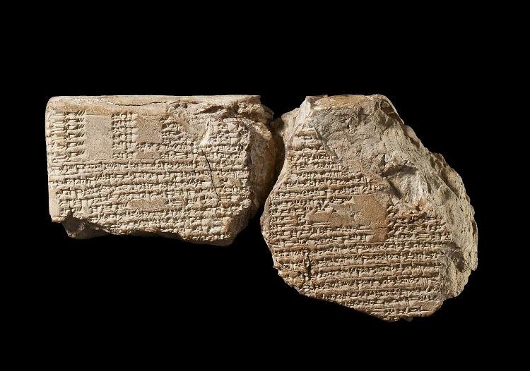Клинописная глиняная табличка Месопотамии