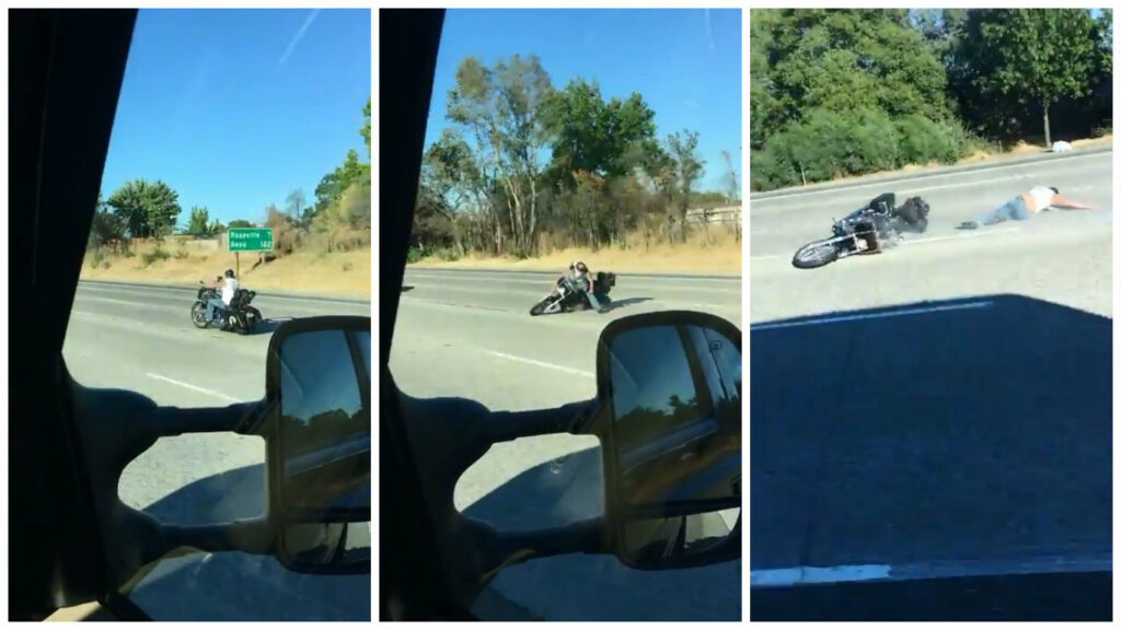 Падение на мотоцикле