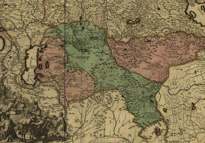 джунгарское ханство на карте
