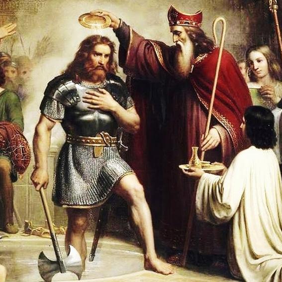 Хлодвиг принимает христианство
