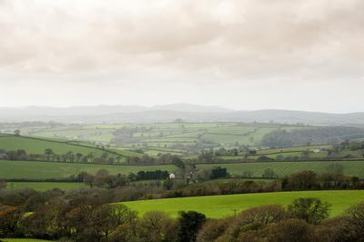 Cornwall country landscape